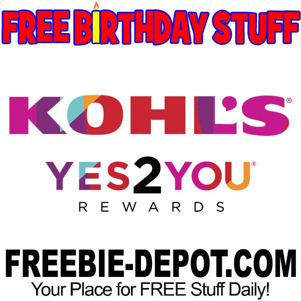 FREE BIRTHDAY STUFF Kohls
