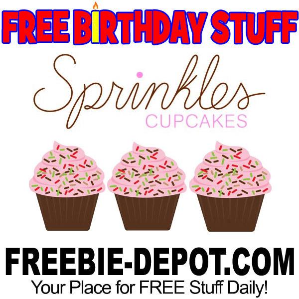 BIRTHDAY FREEBIE – Sprinkles Cupcakes – FREE Cupcakes!