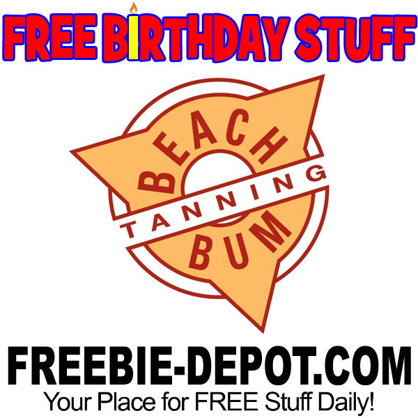 BIRTHDAY FREEBIE – Beach Bum Tanning
