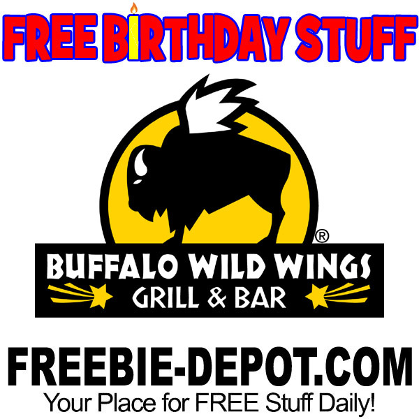 graphic regarding Buffalo Wild Wings Printable Coupons named Cost-free BIRTHDAY Things Buffalo Wild Wings Freebie Depot