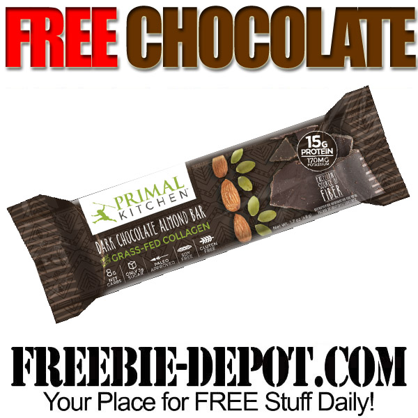 free primal kitchen dark chocolate almond bars, 6-pack! $30 value