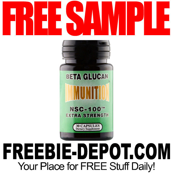 FREE SAMPLE – NSC-100 MG Glucan Capsules – FREE Supplement Sample