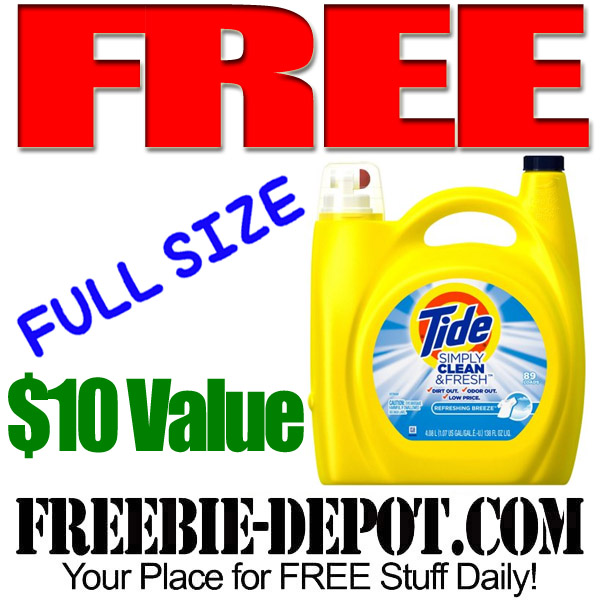 WOW ➡ FREE Tide Laundry Detergent – FULL SIZE – $10 Value – Exp 7/31/16