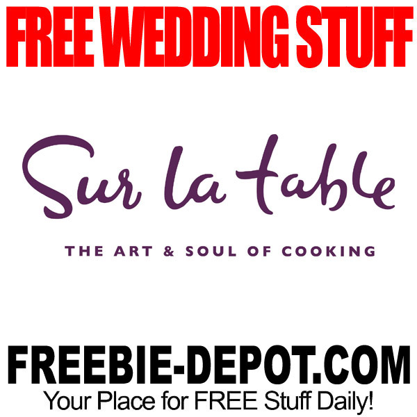 Free wedding stuff freebie depot free wedding stuff sur la table junglespirit Gallery