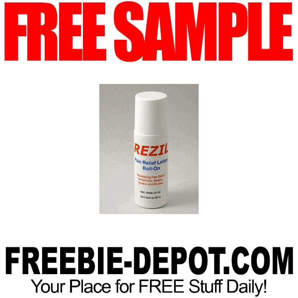 FREE SAMPLE – REZIL Pain Relief Lotion