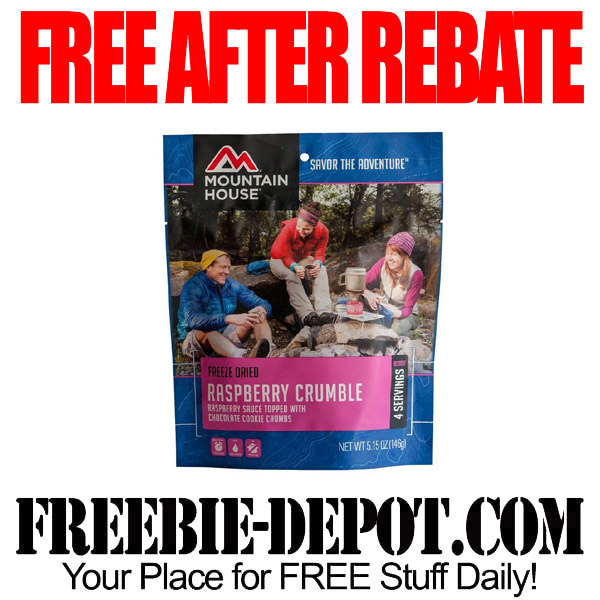FREE AFTER REBATE – Mountain House Raspberry Crumble – $8.49 Value – Exp 10/31/16