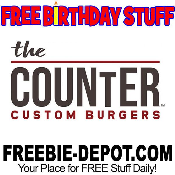 BIRTHDAY FREEBIE – The Counter Custom Burgers