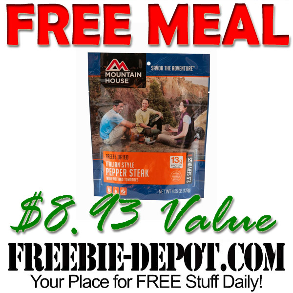FREE Italian Style Pepper Steak with Rice Meal $8.93 Value – Exp 10/31/16