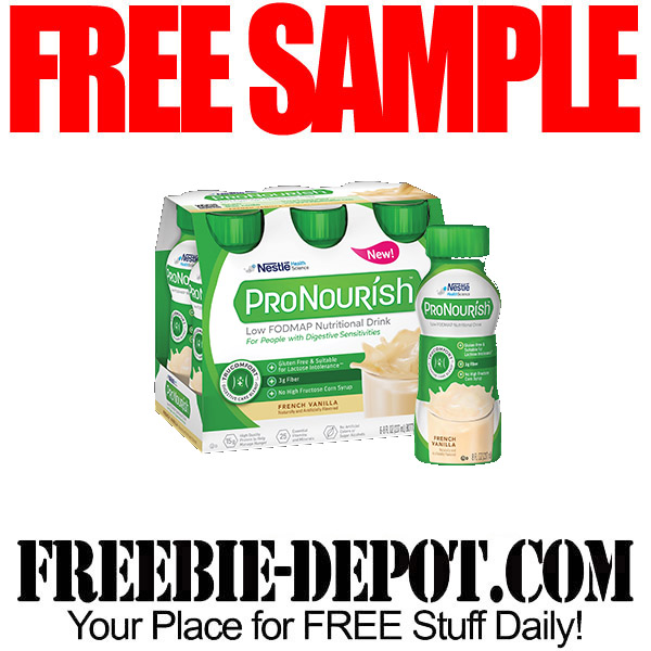 FREE SAMPLE – ProNourish Nutritional Drink | Freebie Depot