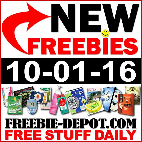 NEW FREEBIE HOTLIST – FREE Stuff for October 1, 2016