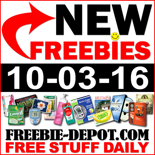 NEW FREEBIE HOTLIST – FREE Stuff for October 3, 2016