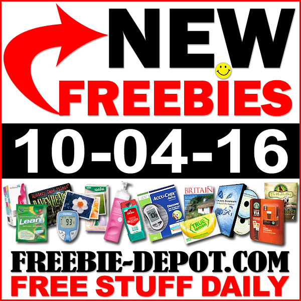 NEW FREEBIE HOTLIST – FREE Stuff for October 4, 2016