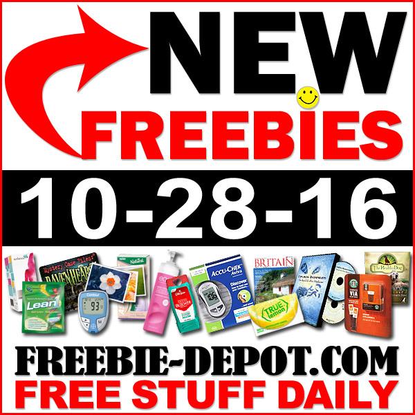 NEW FREEBIE HOTLIST – FREE Stuff for October 28, 2016