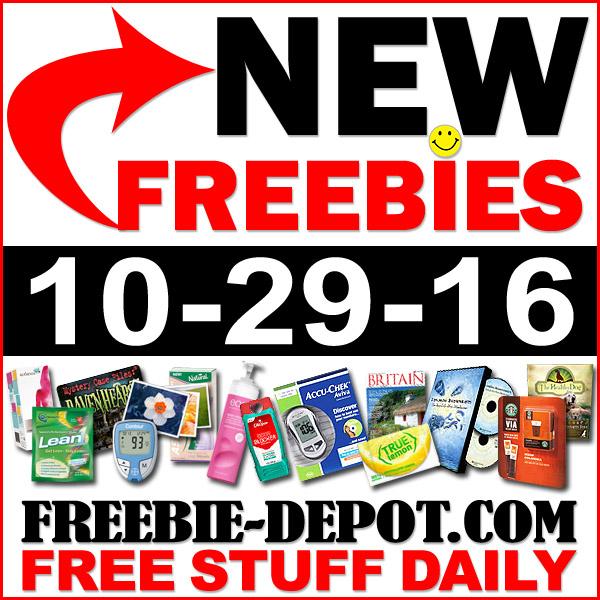 NEW FREEBIE HOTLIST – FREE Stuff for October 29, 2016