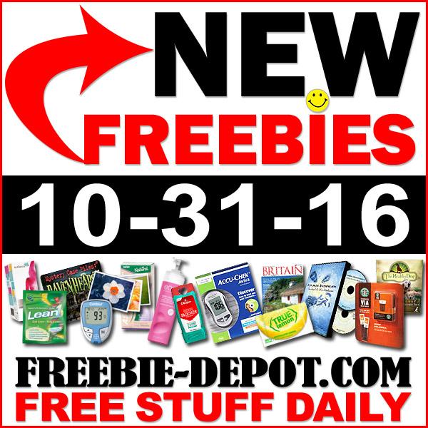 NEW FREEBIE HOTLIST – FREE Stuff for October 31, 2016