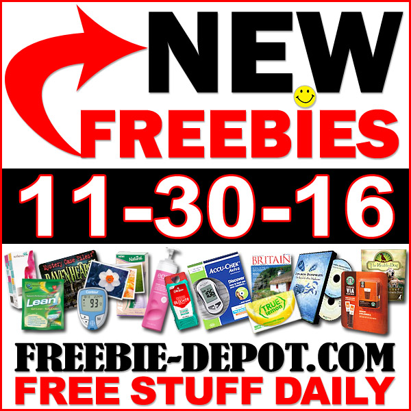 NEW FREEBIE HOTLIST – FREE Stuff for November 30, 2016