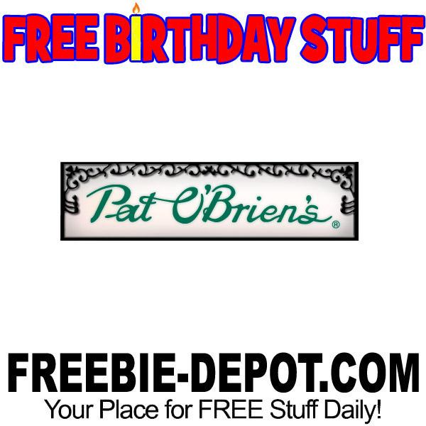BIRTHDAY FREEBIE – Pat O'Brien's