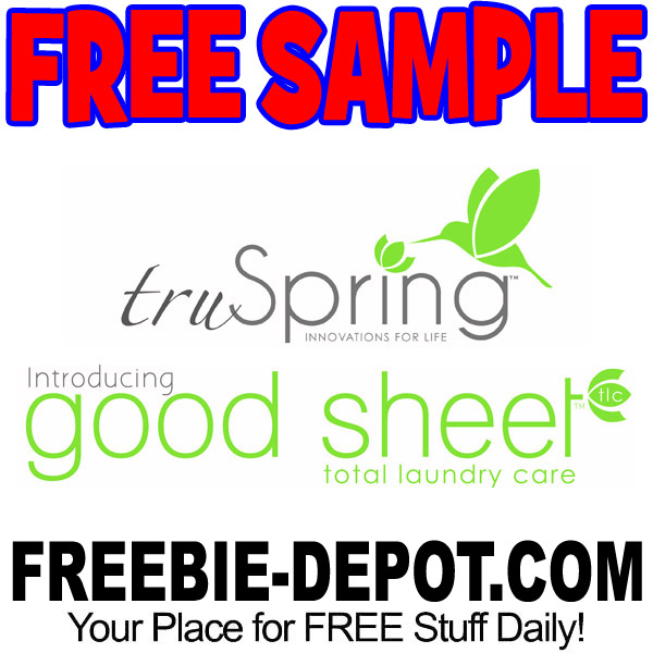FREE SAMPLE – truSpring Good Sheet Eco Total Laundry Care