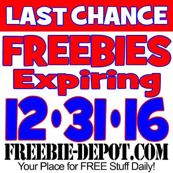 LAST CHANCE – FREE Offers Expiring 12/31/16