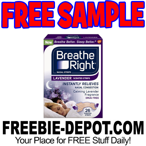 FREE SAMPLE – Breathe Right Nasal Strips – FREE Nasal Congestion Relief Sample