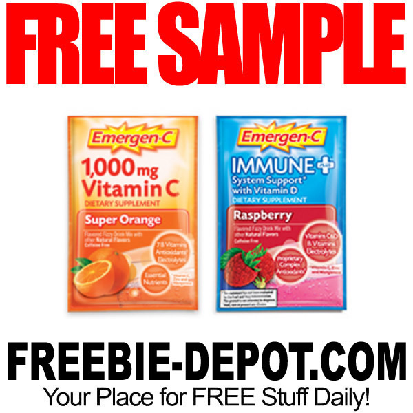 FREE SAMPLE – Emergen-C Vitamin Drink Mix