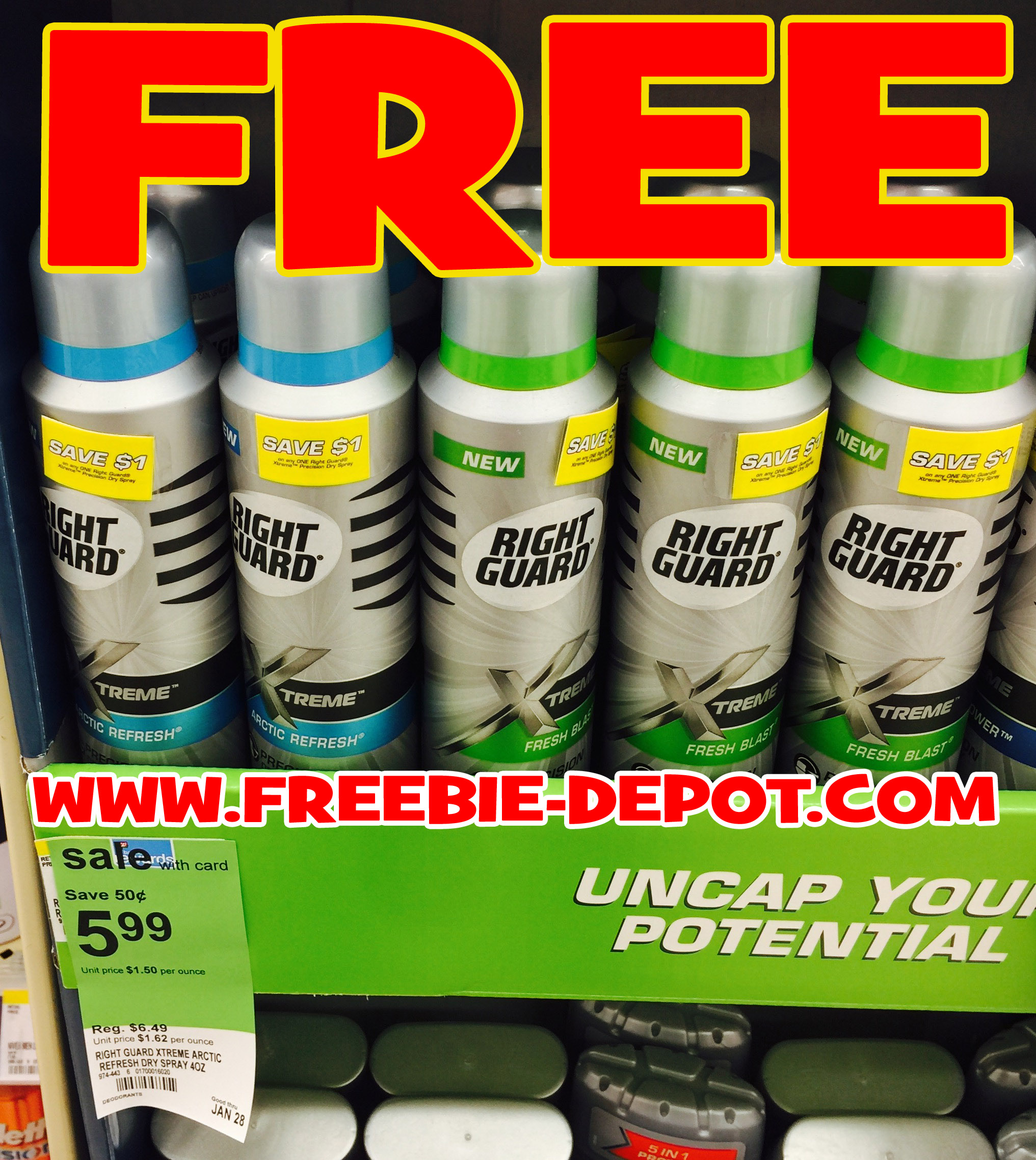 FREE AFTER REBATE – Right Guard Xtreme Precision Dry Spray Antiperspirant – $6.99 Value – Exp 2/28/17