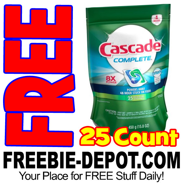🔥 HOT DEAL 🔥 FREE Cascade ActionPacs Dishwasher Detergent 25 Count – Exp 3/1/17