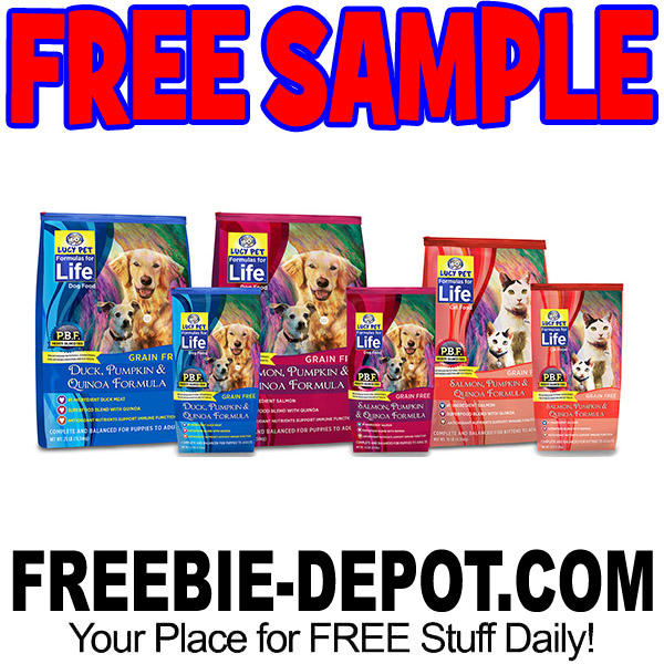 FREE SAMPLE – Lucy Pet Formulas for Life Pet Food