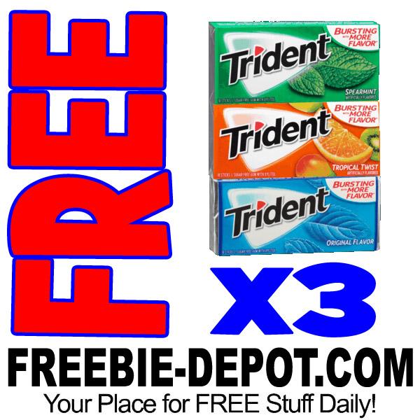 3 FREE Trident Gum Single Packs + MONEY MAKER – Exp 4/2/17