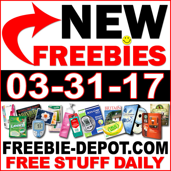 NEW FREEBIE HOTLIST – FREE Stuff for March 31, 2017