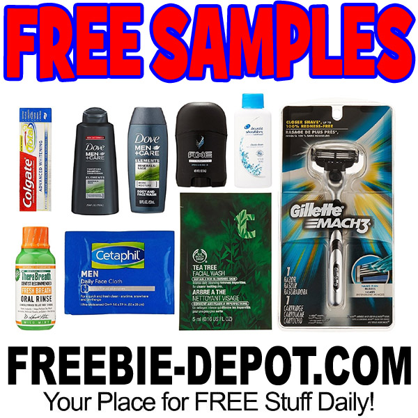 8 {or MORE} FREE Men's Grooming Samples – $10 Value – LIMITED TIME!