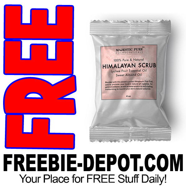 FREE SAMPLE – Himalayan Salt Body Scrub by Majestic Pure
