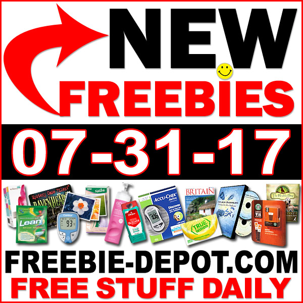 NEW FREEBIE HOTLIST – FREE Stuff for July 31, 2017