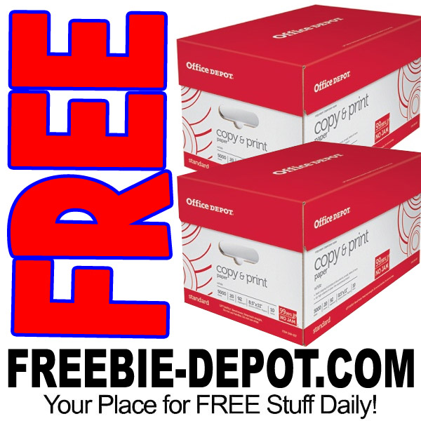 2 FREE Cases of Copy Paper – LIMIT 2 PER WEEK!  FREE Delivery – Exp 9/2/17