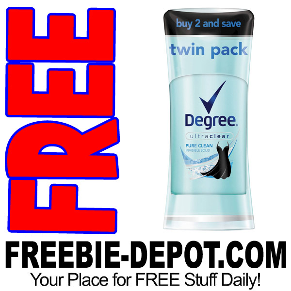 8/11/17 ONLY >>> FREE Degree Twin Pack Deodorant from Target!