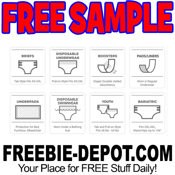 FREE 2-Pack Incontinence Product Sample   Freebie Depot