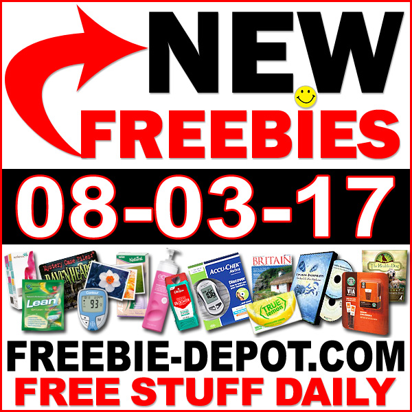 NEW FREEBIE HOTLIST – FREE Stuff for August 3, 2017