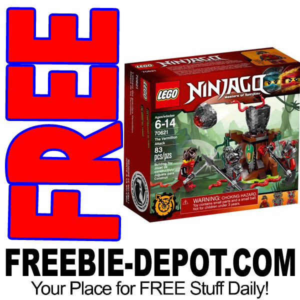 free lego ninjago vermillion attack set at walmart exp 9 30 17