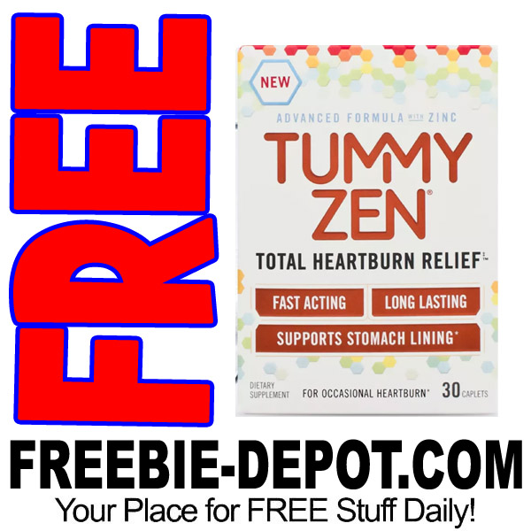 FREE AFTER REBATE – TummyZen Total Heartburn Relief Medication – $10 Value – Try Me FREE – LIMITED QUANTITIES!