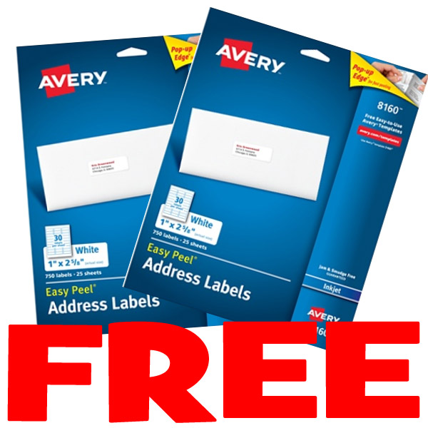 2 free packs of avery address labels from office depot 26 value exp 101417 - Office Depot Christmas Cards