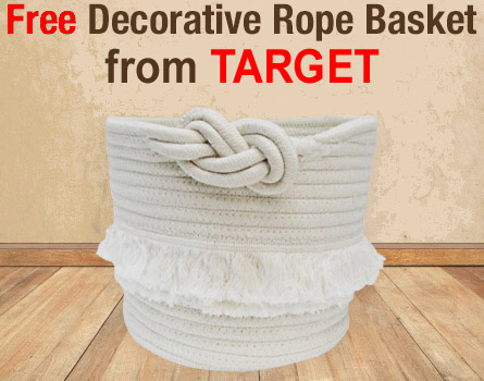 FREE Decorative Rope Basket from Target! $8 Value – Ends 3/21/18