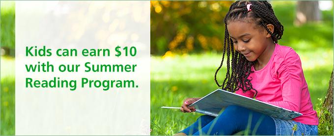 FREE $10 for Kids – TD Bank Summer Reading Program