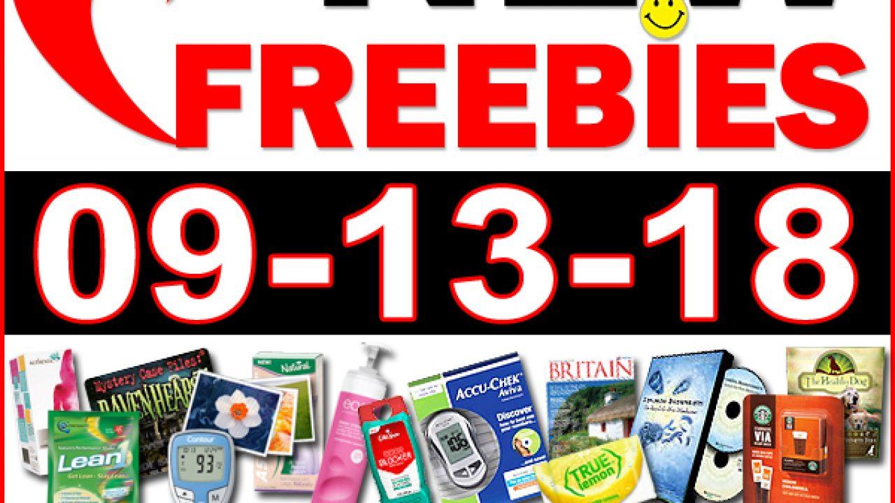 Top Freebies for September 13, 2018   Freebie Depot
