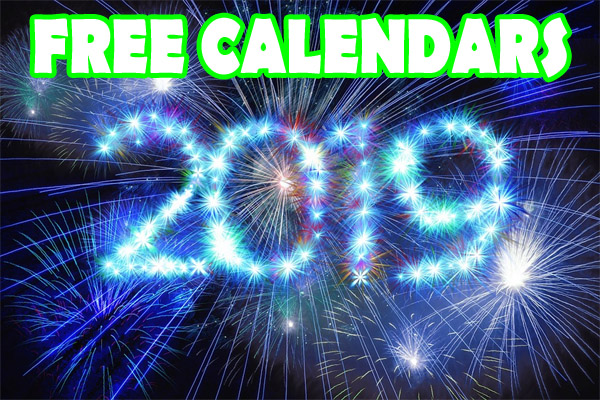 Massive List of FREE 2019 Calendars – While they last!