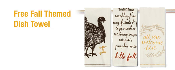 FREE Fall Dish Towel from Target – $2.99 Value – Exp 10/21/18
