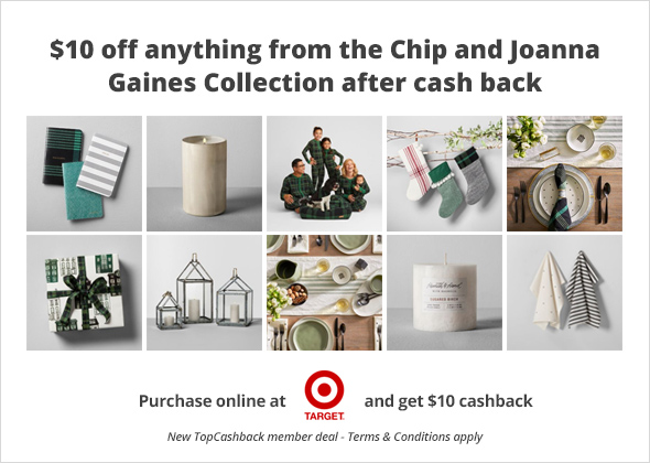 HOT! HOT! HOT!  FREE $10 Item from Chip & Joanna Gaines' Collection at Target! PLUS a FREE $10 VISA Gift Card! Exp 11/4/18