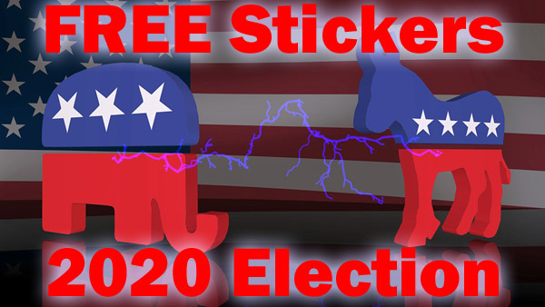 FREE 2020 Presidential Candidate Stickers – FREE Election Bumper Stickers