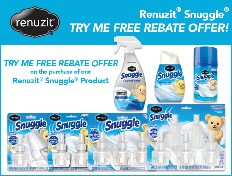 TRY ME FREE – Renuzit Snuggle Product up to $10.99 Value – Exp 12/31/19