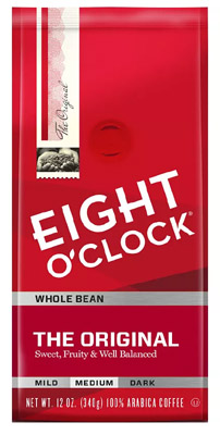 2 Eight O'Clock Coffee Bags Bean or Ground – ONLY $4.68 or Less!!!!