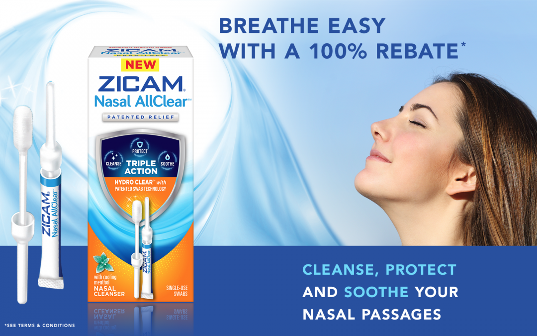 FREE AFTER REBATE – Zicam Nasal AllClear – $20 Value – Exp 1/31/19